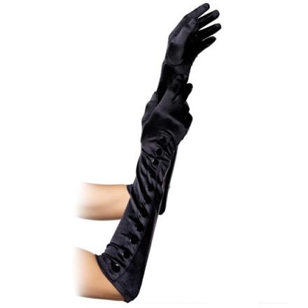 leg avenue guantes extra largos negros con botones