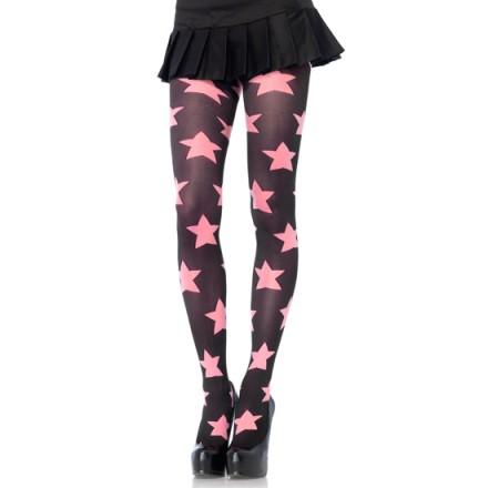 leg avenue panties opacos con estrellas rosa negro