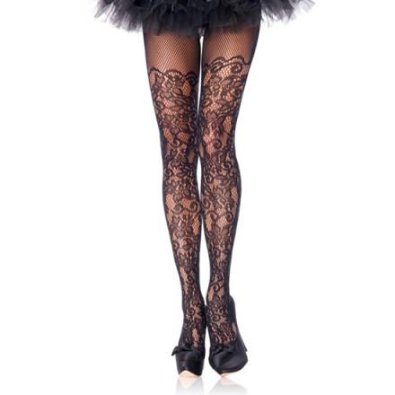 leg avenue panties de encaje floral negro plus