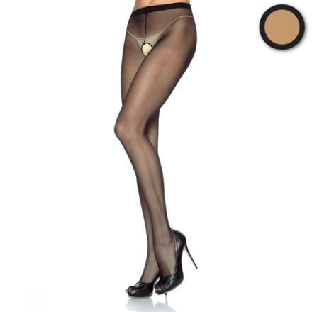 leg avenue panties de nylon con abertura en la entrepierna beig
