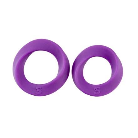 anillos para el pene dos tamaños negro
