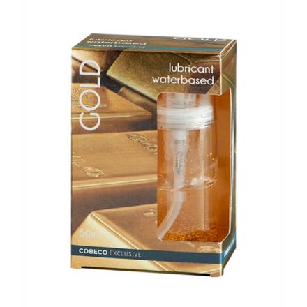 cobeco exclusive lubricante base agua oro