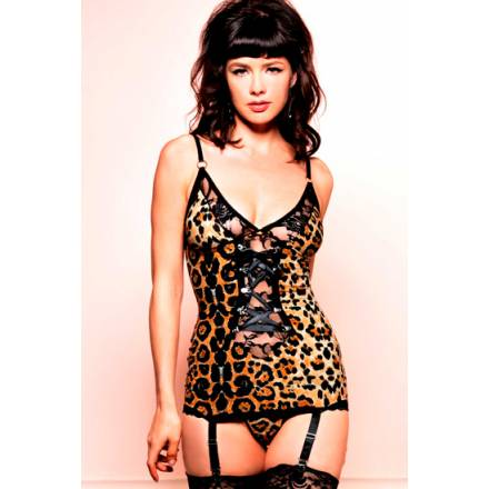 leg avenue picardias de leopardo y tanga a juego