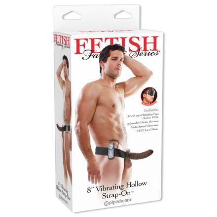 fetish fantasy arnes vibrador hueco 19 cm marron