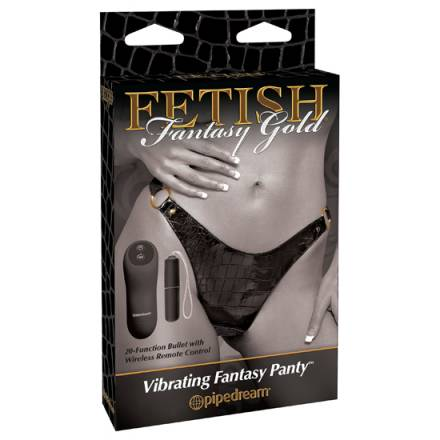 fetish fantasy gold tanga remoto plus