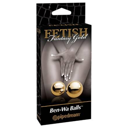 fetish fantasy gold bolas medianas ben wa cristal dorado