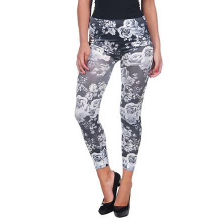 intimax flores byn white legging