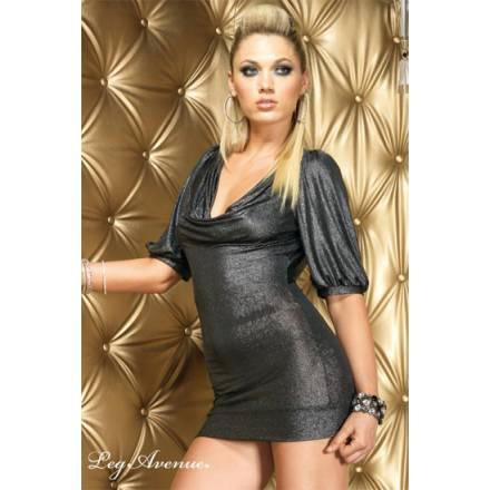 leg avenue mini vestido gris metalizado