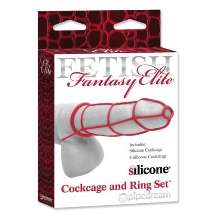 fetish fantasy elite sent funda y anillos para el pene negro