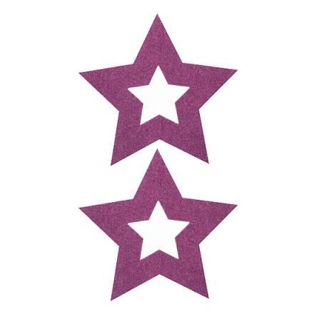 adhesivos para pezones estrella lila