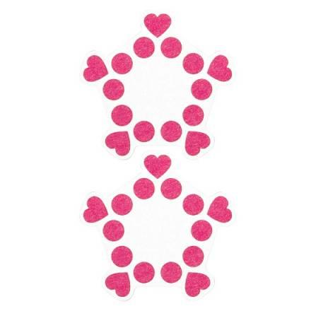 adhesivos para pezones puntos y corazones blanco