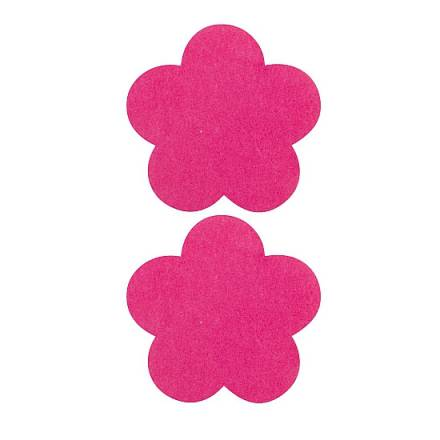 adhesivos para pezones flor rosa