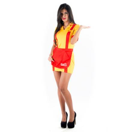 picaresque disfraz camarera amarillo
