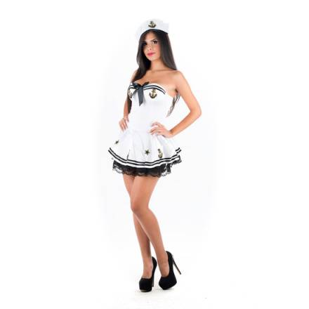 picaresque disfraz navy girl blanco