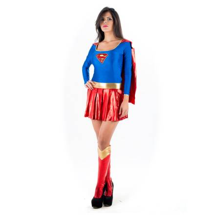 picaresque disfraz superwoman azul