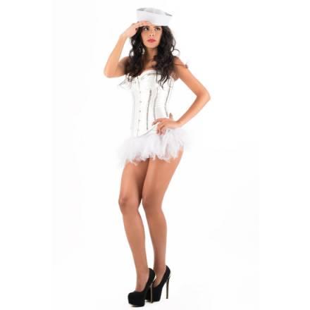 picaresque disfraz blouse iris blanco