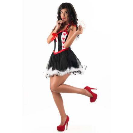 picaresque disfraz queen shana rojo