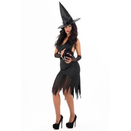 picaresque disfraz witch electra negro