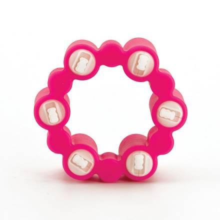 teez toys anillo vibrador con 6 balas rosa