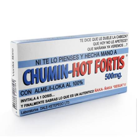 chumin hot fortis caja de caramelos