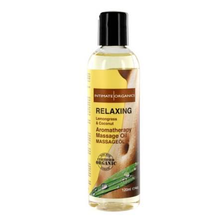intimate organics relaxing aceite de masaje aromaterapico