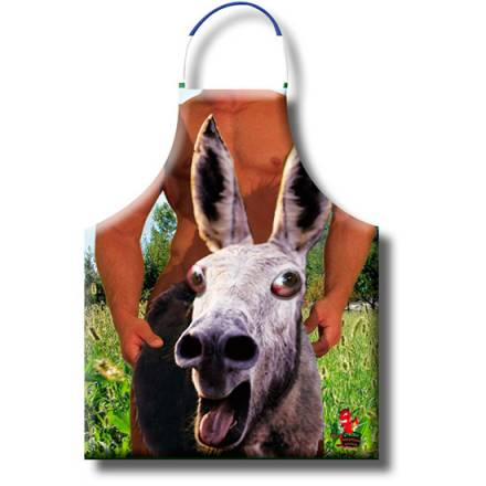 delantal burro