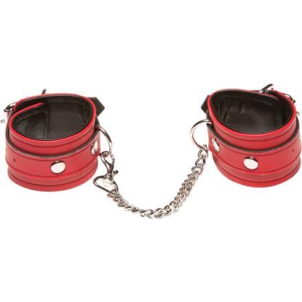 x play esposas con cadena roja