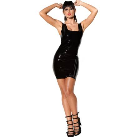 dress vestido negro de latex