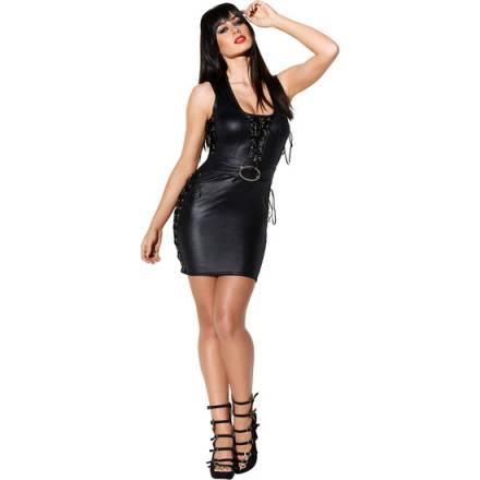 dress w vestido corto negro con correa w