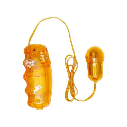 juzy gyrating vibrador transparente naranja