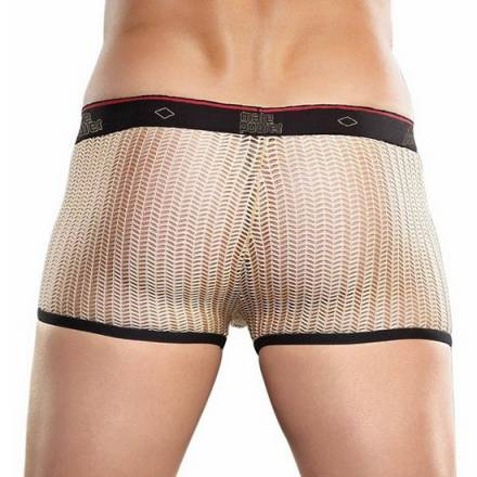 MALE POWER BOXER CROCHET ROJO