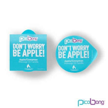 dont worry be apple vela de masage manzana y canela