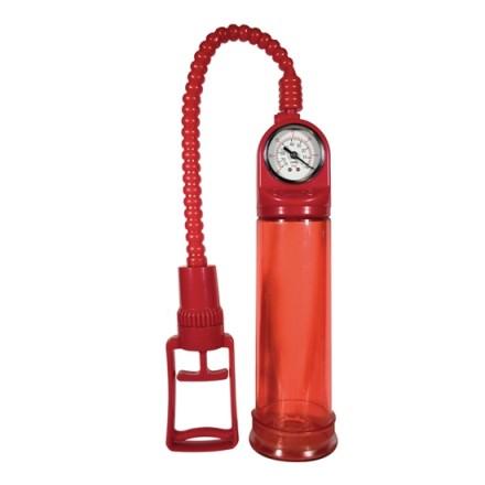 bomba de ereccion con manometro roja