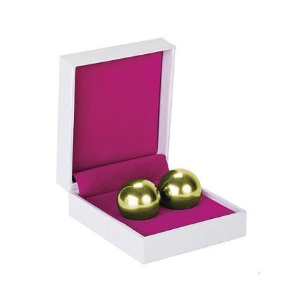 bolas chinas ben wa balls pesadas dorado