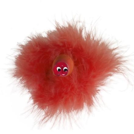 broche pito con esperma y marabu rojo