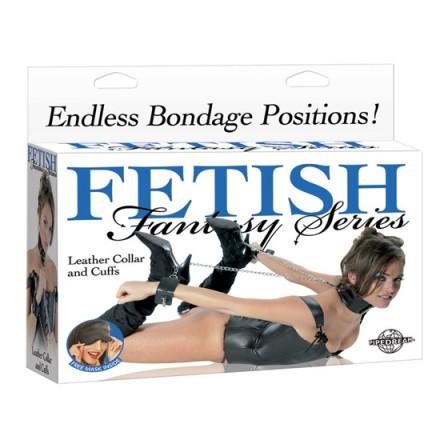 fetish fantasy collar con esposas de cuero