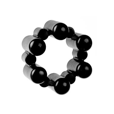 sixshot anillo vibrador con 6 balas rosa
