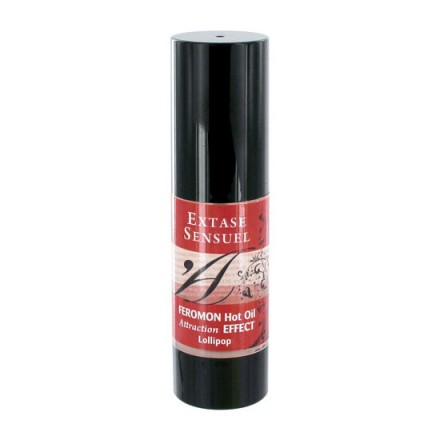 extase sensuel aceite de masaje efecto calor con feromonas piruleta