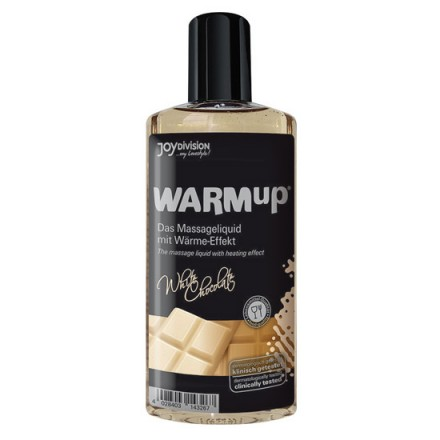 aceite de masaje efecto calor chocolate blanco
