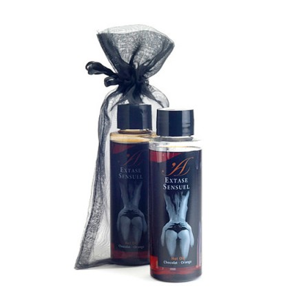 extase sensuel aceite de masaje efecto calor chocolate y naranja
