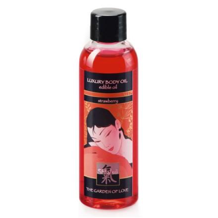 shiatsu aceite de masaje comestible fresa