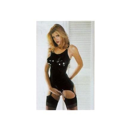 vestido corse de latex