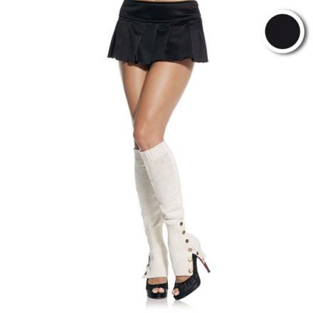 leg avenue calentadores de piernas con botones negro