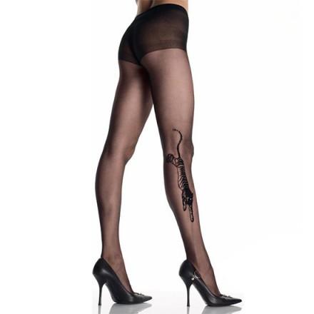leg avenue panties negros con efecto tatuaje tigre