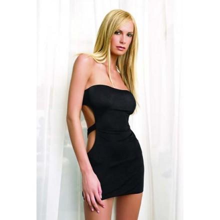 leg avenue vestido de tubo negro con abertura trasera