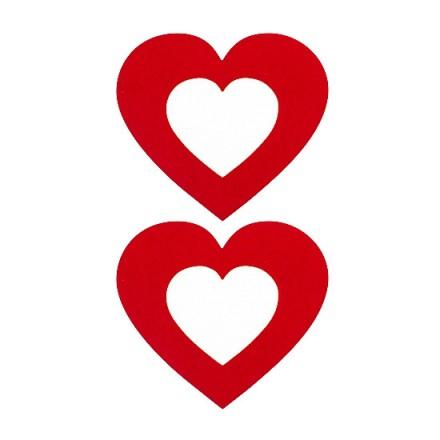 adhesivos para pezones corazon rojo