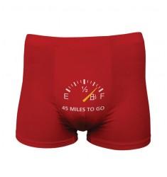 FUNNY BOXERS 45 MILES TO GO ROJO