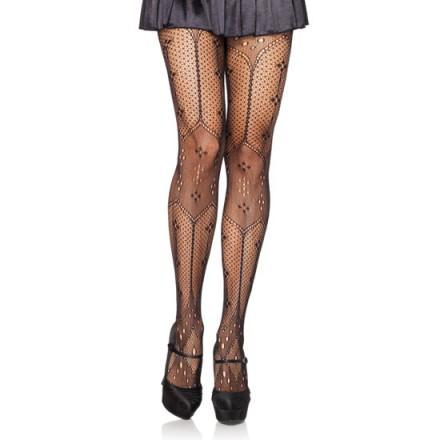 leg avenue panties tipo crochet negro