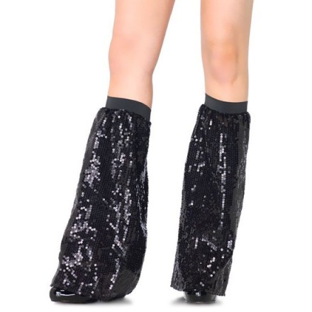 leg avenue calentadores de piernas de lentejuela negra