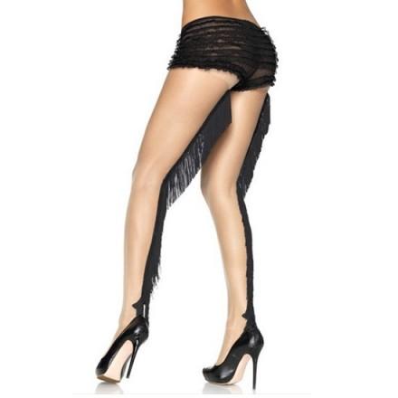 leg avenue panties nude con costura trasera de flecos